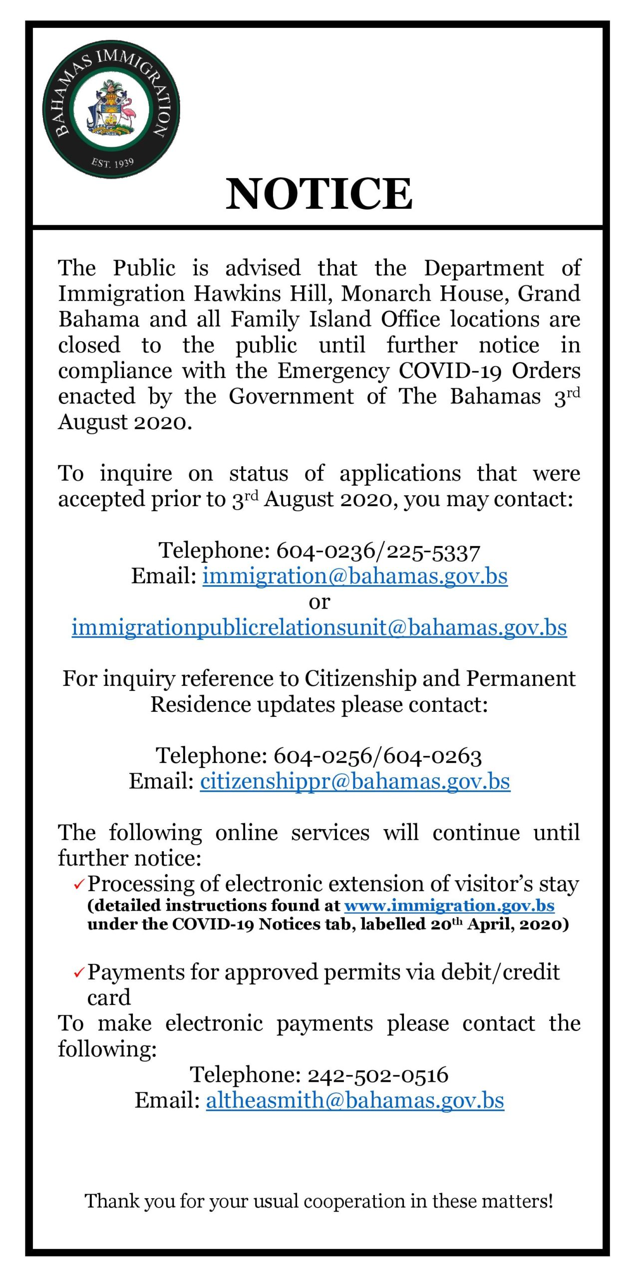 Download Forms Bahamas Immigration
